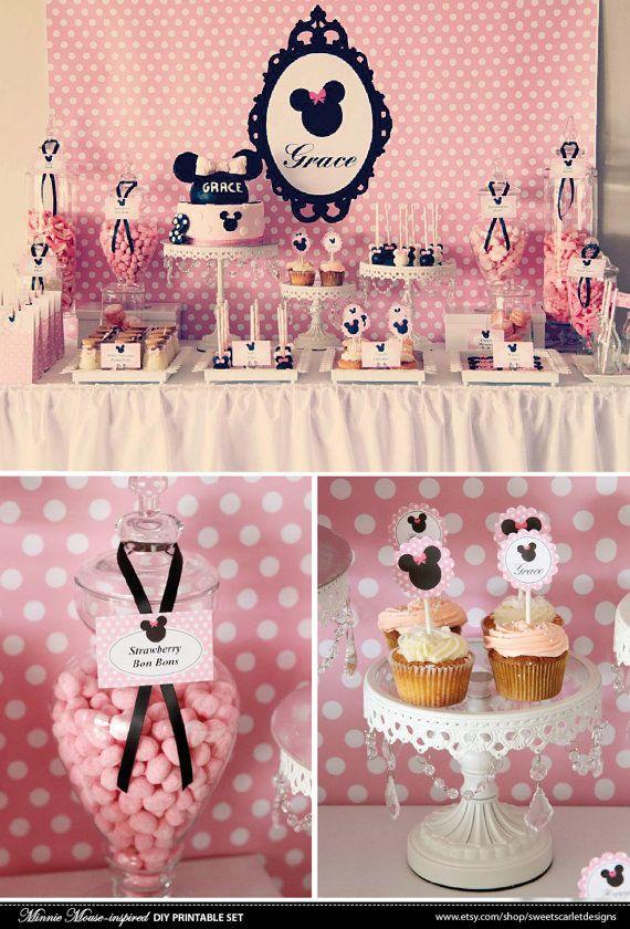 MINNIE Mouse Bithday Party Printable Set  di SweetScarletDesigns