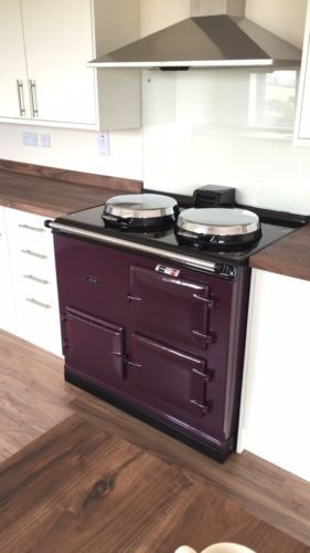 2-OVEN-13AMP-ELECTRIC-AGA-COOKER-IN-AUBERGINE-FULLY-RECONDITIONED-5-YR-WARRANTY