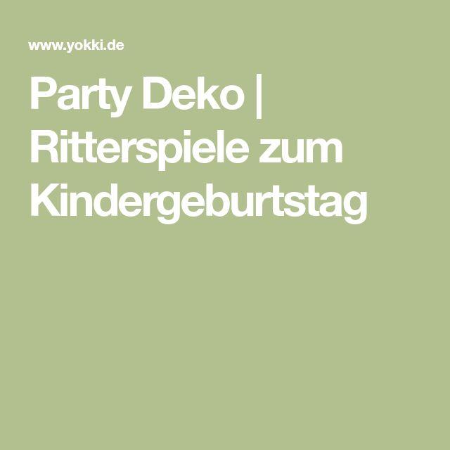 Party Deko | Ritterspiele zum Kindergeburtstag
