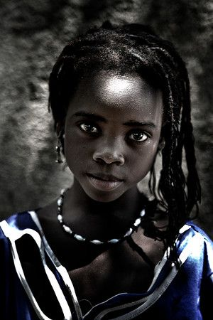 young girl of Mali, Africa