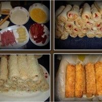 Závitky se šunkou a sýrem