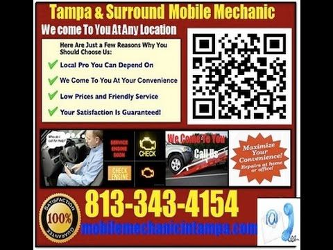Mobile Mechanic Tampa 813-343-4154 or http://mobilemechanicintampa.com/ Mobile Auto Mechanic Tampa 813-343-4154 Florida Car Repair Service http://youtu.be/BTTI-ES8wwA