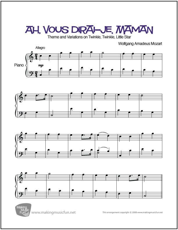 Epingle Sur Piano Sheet Music Beginner Easy