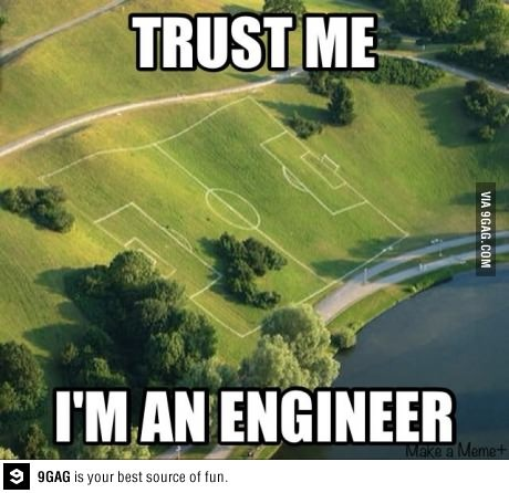 Trust me I'm an engineer! Would make for a very interesting #soccer game