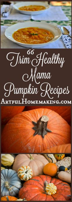Artful Homemaking: 66 Trim Healthy Mama Pumpkin Recipes! Includes breads, pies, cakes, cookies, puddings, desserts, and soups!