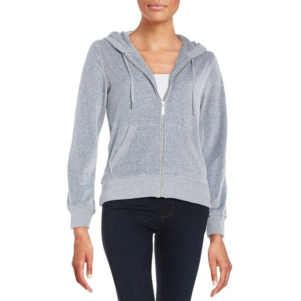 Michael Michael Kors Petite Velour Zip-Up Hoodie ($31) ❤ liked on Polyvore featuring tops, hoodies, pearl heather, petite, zip hoodies, velour zip hoodie, zip hoodie, sweatshirt hoodies and velour hoodies