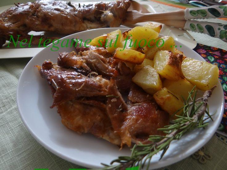 Cosciotto di agnello al forno flambé - Ricetta pasquale -