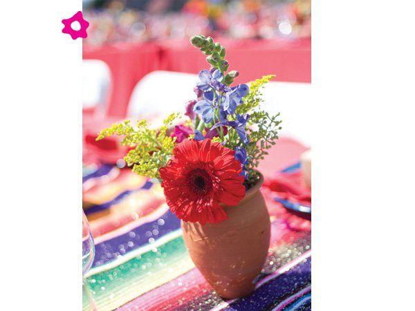 Centro de mesa para boda mexicano pequeño