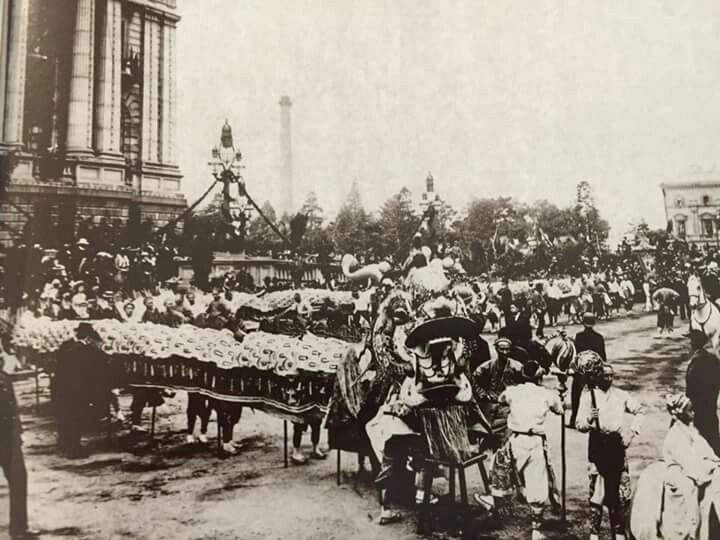 Chinese Procession in Melbourne,in c1901. National Library of Australia.