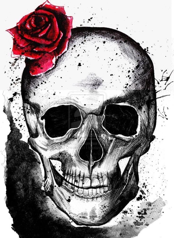 Рисованные черепа картинки