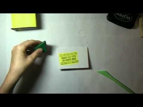 kadokaartjes kaart 1 - YouTube
