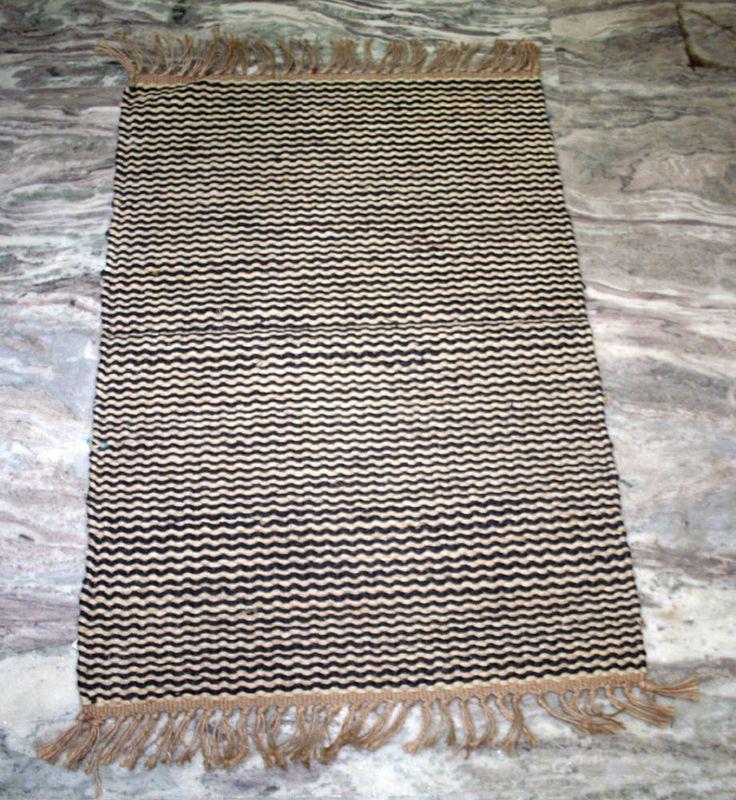 HAND WOVEN Jute Door Mat 2x3 ft KILIM AREA RUG Home Decor Floor Mat AFGHAN Mat #Handmade #DoorMat