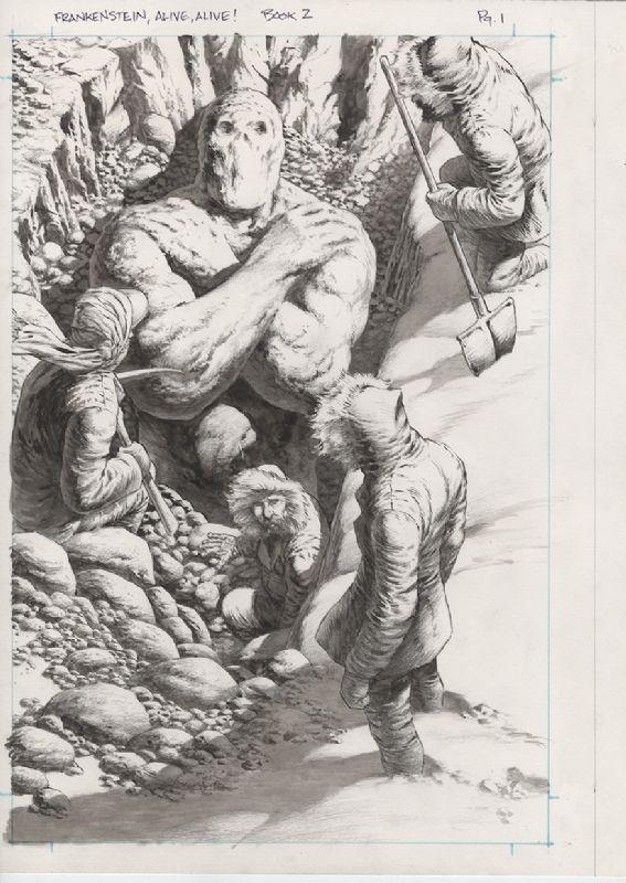 Frankenstein Alive, Alive #2 p.1, Wrightson