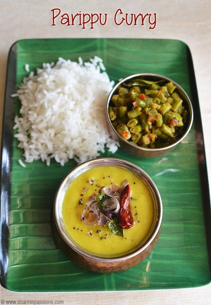 Parippu Curry made for Onam Sadya is made with Cherupayar in Kerala...this is one of the main dishes in Onam Sadya.We south indians usu...