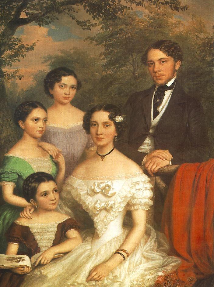 The Family Dégenfeld  by Miklós Barabás