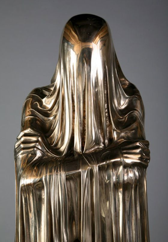 LIQUID GOLD FOLD // KEVIN FRANCIS GRAY    CAST / DRAPE / FOLD / GOLD / LINES / PLEAT / POLISHED    24/1/12