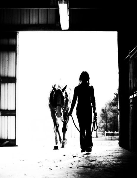 Horse and owner...    © Christy Schobert Photography    Vote for this photo here! http://www.photoswinprizes.com/2012/04/15/all-in-a-days-work/