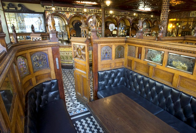 Where is the world's best pub? Belfast, Ireland's The Crown Liquor Saloon - a Victorian gin palace, renovated in 1885 with elaborate tile work, stained glass and wood carvings - is a temple to intemperance. #bestofcity