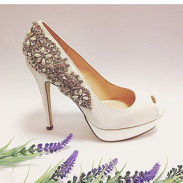 Pink Paradox sparkle wedding shoes
