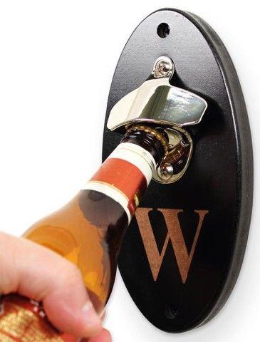 Monogram Wall-Mounted Bottle Opener - Bottle Openers - Wall Mounted Bottle Openers - Wall Mount Bottle Openers - Custom Bottle Openers - Personalized Bottle Openers | HomeDecorators.com