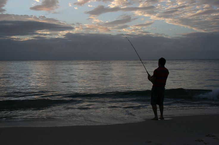 Fishing at dusk on Moreton Island. Fading #light creates some great #photogrpahy opportunities