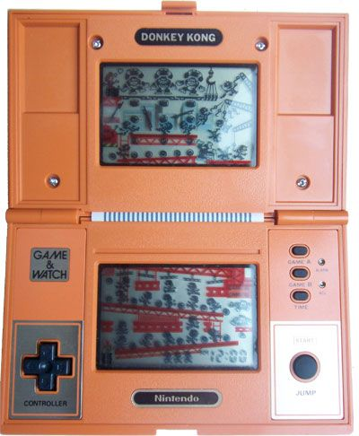 Donkey Kong with dual screen.  Like an early DS.  My brother got this in 1983.