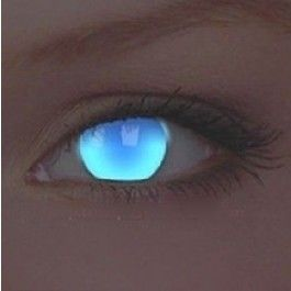 ColourVue UV Glow Electric Blue Crazy Colour Contact Lenses (1 Y