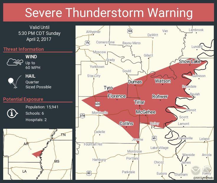 Severe Thunderstorm Warning continues for Dumas AR, McGehee AR, Arkansas City AR until 5:30 PM CDTpic.twitter.com/sVqwYtNYJg - https://blog.clairepeetz.com/severe-thunderstorm-warning-continues-for-dumas-ar-mcgehee-ar-arkansas-city-ar-until-530-pm-cdtpic-twitter-comsvqwytnyjg/