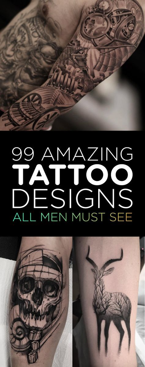 99 Amazing Tattoo Designs All Men Must See   TattooBlend