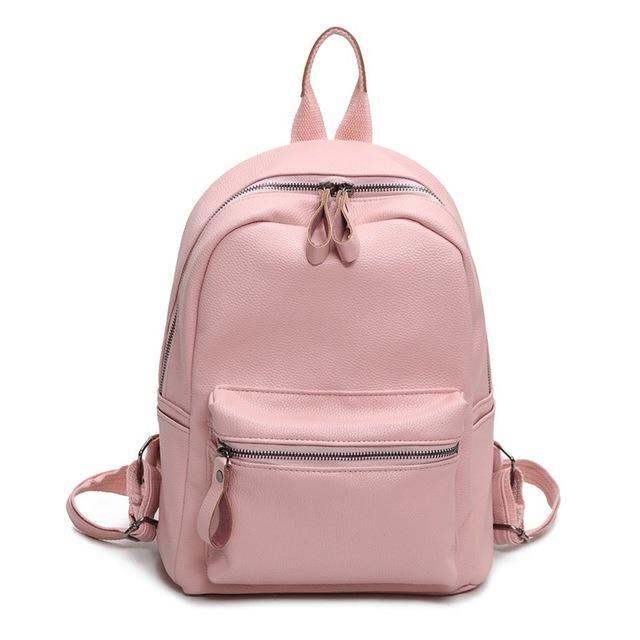 94803116ec35 LEFTSIDE Women Backpack Casual PU Leather Ladies Feminine Backpacks For Teenage  Girls School Bag Bagpack Black