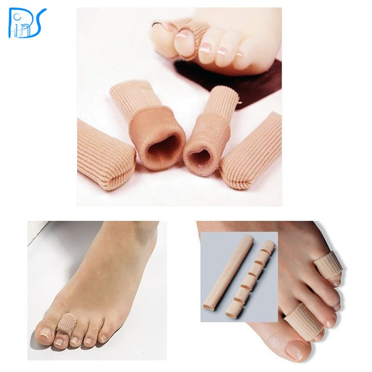 feet care gel toe protector and toe separators silicone gel tube to cushion toe protect corns and calluses