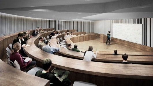 Lecture Hall. Image Courtesy of O'Donnell + Tuomey / Central European University