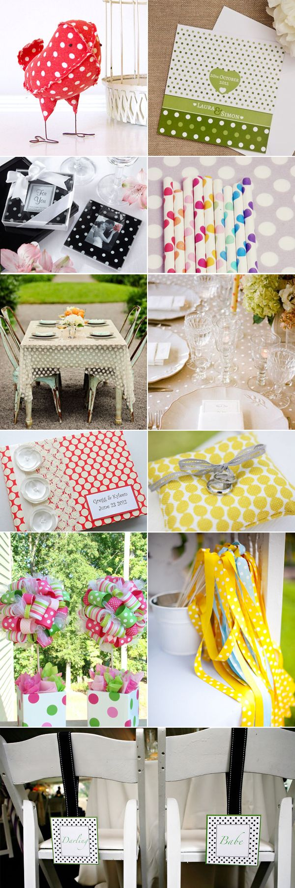 39 Polka-Dot Wedding Inspirations - Decor & Gifts