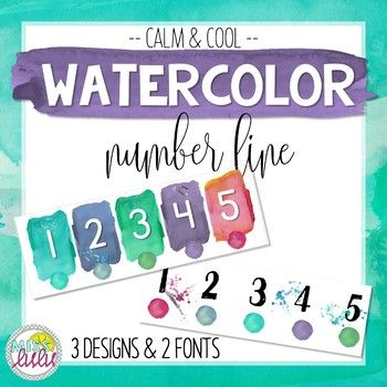 Looking for a cohesive and unique classroom theme? My calm & cool watercolor classroom decor is an excellent choice for any age group! This product includes a number line (1-100) in three designs and 2 different fonts. Perfect for a primary classroom or a math classroom!*****************************************************************************Also Available:Calm & Cool Watercolor Mini Decor PackCalm & Cool Watercolor Calendar Set*************************************************...