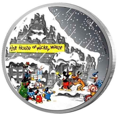 Niue-Disney-Weihnachtsgruesse-2-Dollar-2015-1-Oz-Silber-Farbe-in-PP
