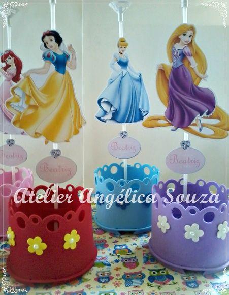 centro de mesa princesas disney
