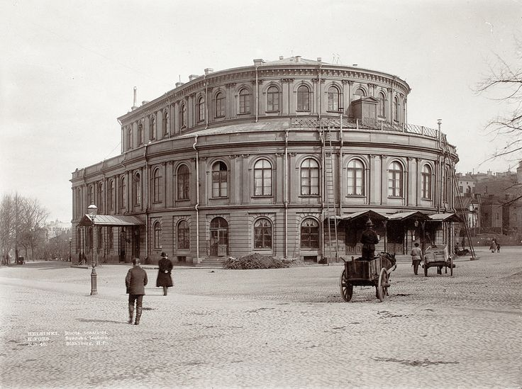 The Swedish Theater in Helsinki - Svenska Teatern i Helsingfors ca 1906, Foto K. E. Ståhlberg