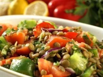 Crunchy lentil salad