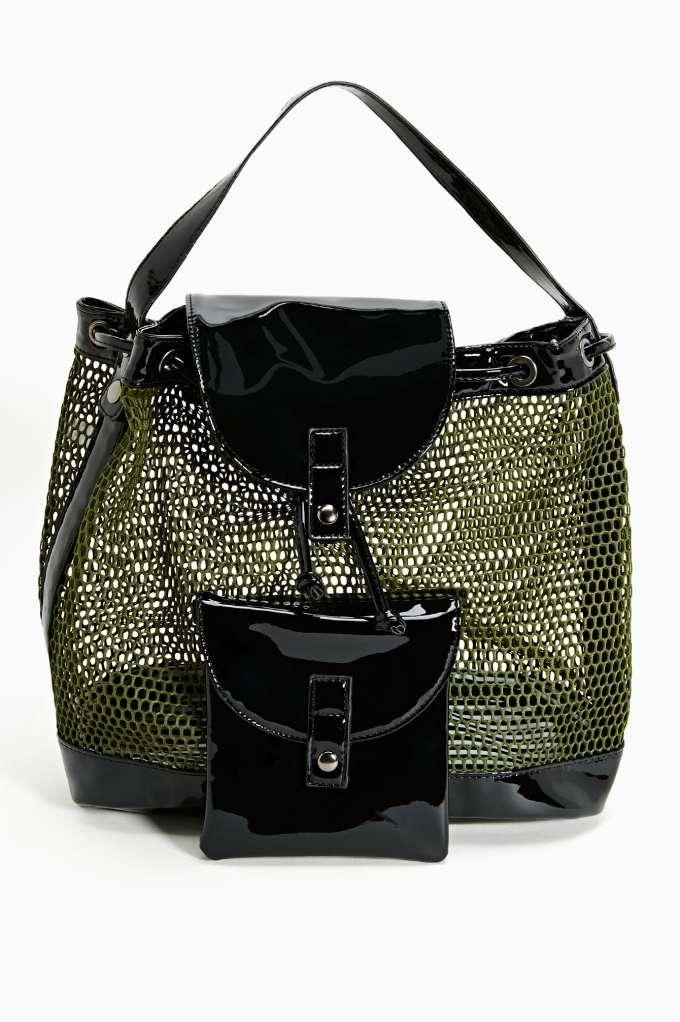 Game Over Mesh Backpack