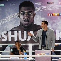 Wladimir Klitschko and Anthony Joshua press conference prior to their upcoming IBF title fight