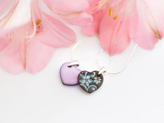 Zuzanna Żylińska Zu Design - #handmade ceramic stud earrings polandhandmade.pl #polandhandmade #necklace #etsy #jewelry #turquoise #heart