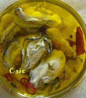 ご馳走さまレシピ♪牡蠣のオイル漬けと水キムチ : 月桂樹~Laurus ...