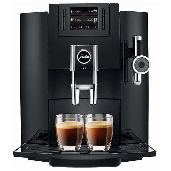 Jura E8 Automatic Coffee & Espresso Maker ($1,899) ❤ liked on Polyvore featuring home, kitchen & dining, small appliances, espresso coffee grinder, coffee frother, frontgate, espresso cappuccino coffee machine and coffee espresso cappuccino maker #automaticespressomaker