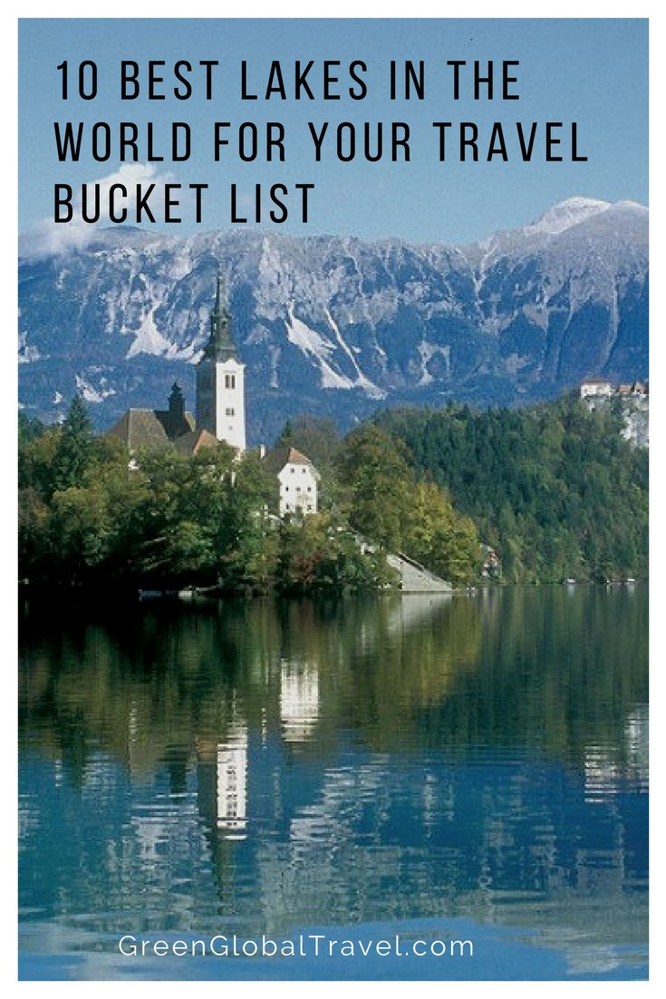 Look at our list of the top ten lakes in the world, all of which are in different countries! From Canada to Kenya, you're sure to find your next destination. Best lakes in america | Best lakes in the world | Travel bucket list | Travel inspirations | Travel ideas - @greenglobaltrvl