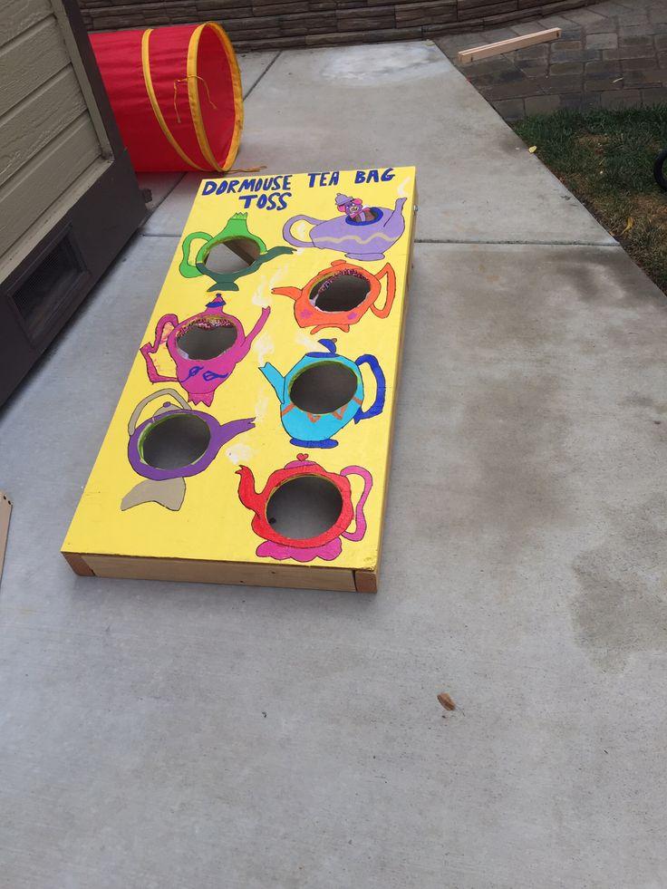 Dormouse tea bag toss- games for an Alice in Wonderland tea party