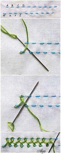 Beautiful embroidery stitch.