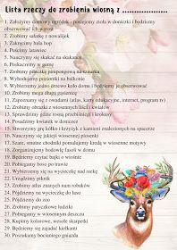 Lista rzeczy do zrobienia na wiosne z dzieckiem