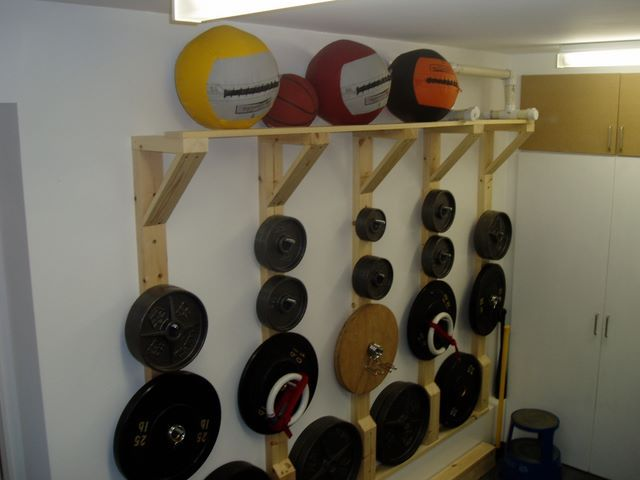 Diy plate tree rack crossfit discussion board home gym