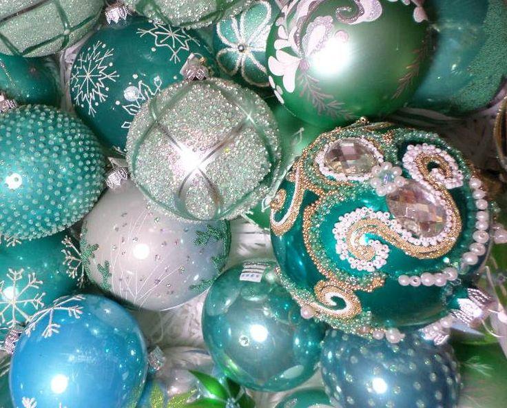 Unique Christmas Blown Glass Ornament  Amazing decorations./ Weihnachtsschmuck