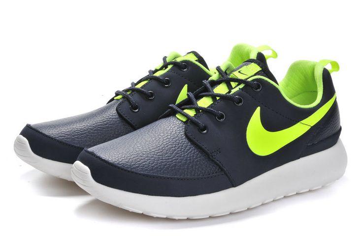 2014 nike roshe run gray green men running shoes $89 freeshipping